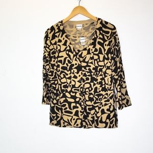 Chico's Paisley NWT Long Sleeve Blouse